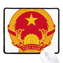 Vietnam Asia National Emblem Non-Slip Mousepad Game Office Black Stitched Edges Gift