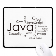 Programmer Program Related Java Non-Slip Mousepad Game Office Black Stitched Edges Gift