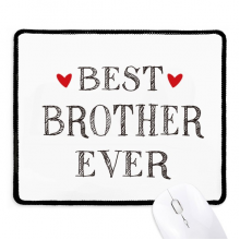 Best Fraternal ever Quote Heart Mousepad Stitched Edge Mat Rubber Gaming Pad