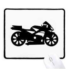 Motorcycle Mechanical Black Silhouette Non-Slip Mousepad Game Office Black Stitched Edges Gift