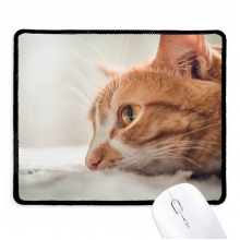 Animal Pure Cat Photograph Picture Non-Slip Mousepad Game Office Black Titched Edges Gift