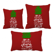 Be a Pineapple Stand Tall Quote Chritsmas Throw Pillows Set Insert Cushion Cover Home Sofa Decor Gift