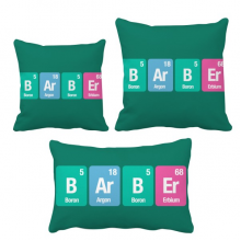 Barber Chemical Element Science Throw Pillows Set Insert Cushion Cover Home Sofa Decor Gift