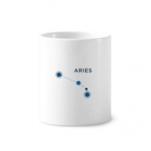 Aries Constellation Sign Zodiac Toothbrush Pen Holder Mug White Ceramic Cup 12oz