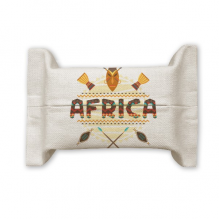 Africa Fancy Text Totem Signs  Tissue Paper Cover Holder Cotton Linen Bag