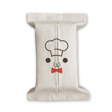 Lovely Face I Am A Chef Expression Tissue Paper Cover Cotton Linen Holder Storage Container Gift