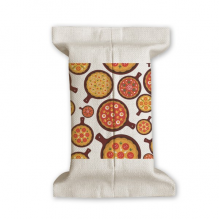 Pizza Italy Tomato Foods Peppers Tissue Paper Cover Cotton Linen Holder Storage Container Gift