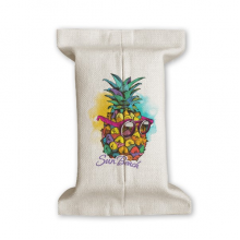 Sunglasses Pineapple Tropical Style Fruit Tissue Paper Cover Cotton Linen Holder Storage Container Gift