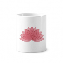 Plant Flower Lotus Flower Illustration Toothbrush Pen Holder Mug White Ceramic Cup 12oz