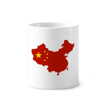 Made in China Map National Flag Toothbrush Pen Holder Mug White Ceramic Cup 12oz