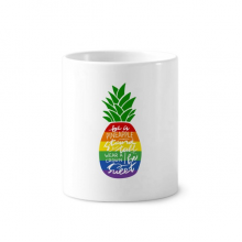Pineapple Rainbow LGBT Flag Quote Toothbrush Pen Holder Mug Ceramic Stand Pencil Cup