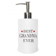 Best grandma ever Quote Relatives Metal Soap Lotion Dispenser Bathroom Kitchen Home Gift