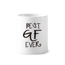 Best BF Ever Valentine's Day Love Toothbrush Pen Holder Mug White Ceramic Cup 12oz