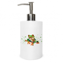 Polypedatid Green Frogs Metal Soap Lotion Dispenser Bathroom Kitchen Home Gift