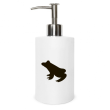 Black Frog Cute Animal Portrayal Metal Soap Lotion Dispenser Bathroom Kitchen Home Gift