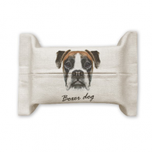 Lop-eard Boxer Dog Pet Animal Cotton Linen Tissue Paper Cover Holder Storage Container Gift