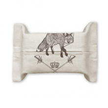 Fox Sword Crown Animal Baroque Style Cotton Linen Tissue Paper Cover Holder Storage Container Gift