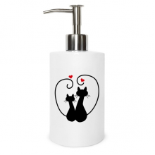 Cat Lovers Sihouette Animal Valentine Metal Soap Lotion Dispenser Bathroom Kitchen Home Gift