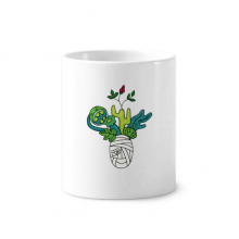 Horus Botany Mummy Plant Cactus Toothbrush Pen Holder Mug Ceramic Stand Pencil Cup