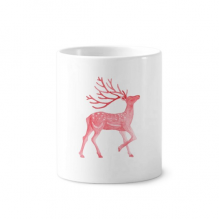 IUCN Endangered Animals Red Sika Deer Toothbrush Pen Holder Mug Ceramic Stand Pencil Cup