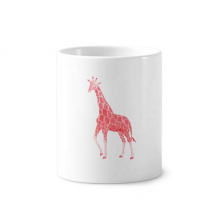IUCN Endangered Animals Red Giraffe Toothbrush Pen Holder Mug Ceramic Stand Pencil Cup