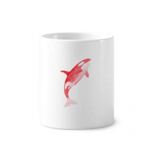 IUCN Endangered Animals Red Killer Whale Toothbrush Pen Holder Mug Ceramic Stand Pencil Cup