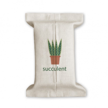 Cactus Potted Plant Succulents Green Tissue Paper Cover Cotton Linen Holder Storage Container Gift