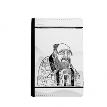 Dao Religion Lao Tzu China Passpord Holder Travel Wallet Cover Case Card Purse Gifts