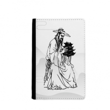Dao Religion China Ink Ppriest Passpord Holder Travel Wallet Cover Case Card Purse Gifts