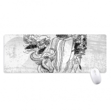 Dao Religion China Lao Tzu Non-Slip Mousepad Large Extended Game Office titched Edges Mat Gift
