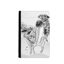 Dao Religion China Lao Tzu Passpord Holder Travel Wallet Cover Case Card Purse Gifts