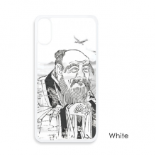 Dao Religion China Ink Painting For iPhone X Cases White Phonecase Apple Cover Case Gift