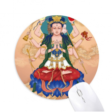 Dao Religion God  Chinese Round Non-Slip Rubber Mousepad Game Office Mouse Pad Gift