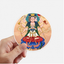 Dao Religion God  Chinese Round Stickers 10cm Wall Suitcase Laptop Motobike Decal 8pcs