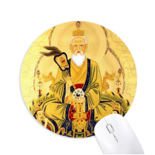 Dao Religion Chinese God Round Non-Slip Rubber Mousepad Game Office Mouse Pad Gift
