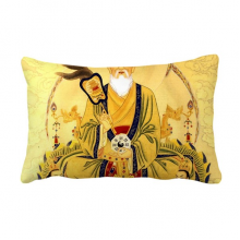Dao Religion Chinese God Throw Pillow Lumbar Insert Cushion Cover Home Decoration