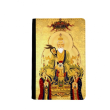 Dao Religion Chinese God Passport Holder Travel Wallet Cover Case Card Purse