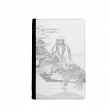 Dao Religion China Cattle Lao Tzu Passpord Holder Travel Wallet Cover Case Card Purse Gifts