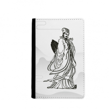 Dao Religion China Zhuge Liang Passpord Holder Travel Wallet Cover Case Card Purse Gifts