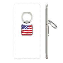Bend Stars And Stripes America Country Flag Square Cell Phone Ring Stand Holder Bracket Universal Support Gift