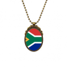 South Africa National Flag Africa Country Antique Brass Necklace Vintage Pendant Jewelry Deluxe Gift