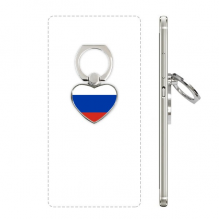 Russia National Flag European Symbol Pattern Heart Cell Phone Ring Stand Holder Bracket Universal Support Gift