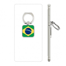 Brazil National Flag South America Country Square Cell Phone Ring Stand Holder Bracket Universal Support Gift