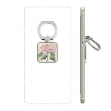 Lotus Flower Lotus Root Watercolor Plant Square Cell Phone Ring Stand Holder Bracket Universal Support Gift
