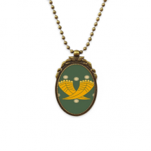 Painting Japanese Culture Gold Antique Brass Necklace Vintage Pendant Jewelry Deluxe Gift