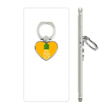 Pineapple Stand Tall Be Sweet Yellow Quote Heart Cell Phone Ring Stand Holder Bracket Universal Support Gift