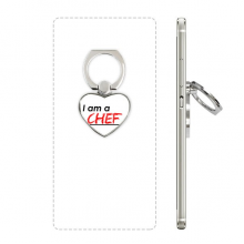 Quote I Am A Chef Heart Cell Phone Ring Stand Holder Bracket Universal Support Gift