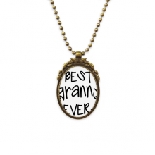 Best Granny Ever Quotes Family Bless Antique Brass Necklace Vintage Pendant Jewelry Deluxe Gift