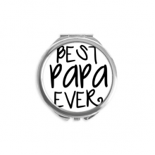Bless Father Best Papa Ever Words Round Compact Makeup Mirror Portable Cute Hand Pocket Mirrors Gift