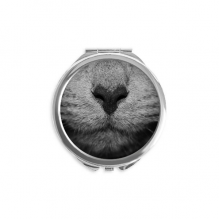 Animal Cat Photograph Shoot Picture Mirror Round Portable Hand Pocket Makeup